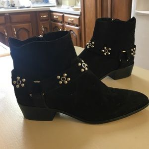 Rebecca Minkoff Leather Studded Boots 10